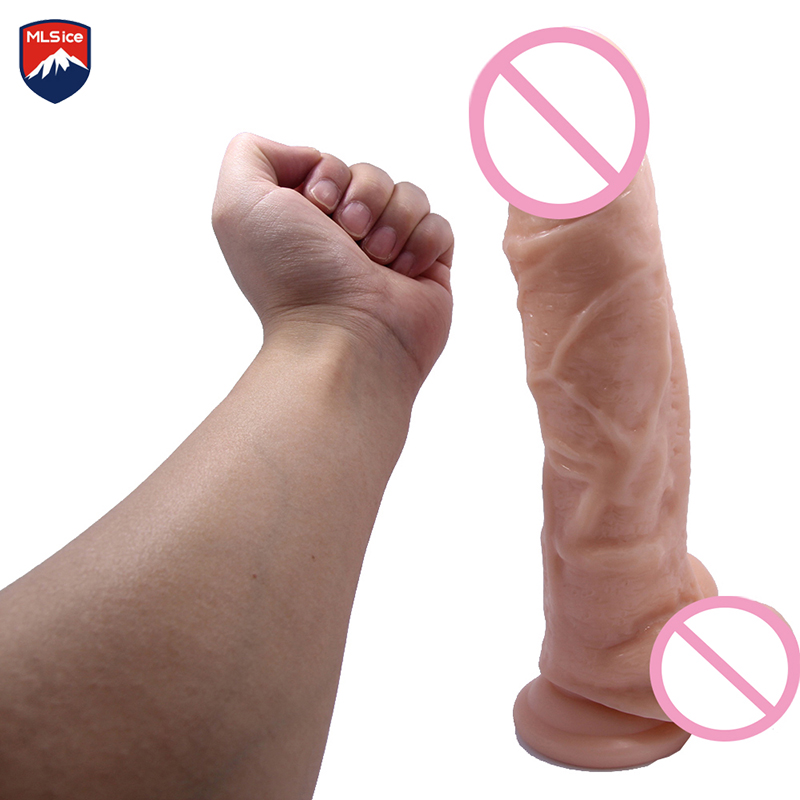 Mlsice 28cm 11 In Realistic Super Big Dildo Flexible Penis Dick With Strong Suction Cup Huge Dildos Female Dick, Adult Sex Toy 10 63 in huge dildo realistic flexible large penis dick big dildos with strong suction cup adult sex products sex toys for woman