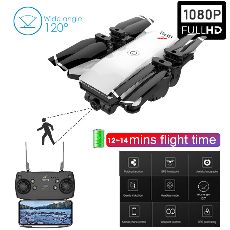 New Foldable RC Drone GPS WIFI FPV with 1080P Wide-Angle HD Camera 14mins Flight Time RC Dron Quadcopter RTF Drone 4KNew Foldable RC Drone GPS WIFI FPV with 1080P Wide-Angle HD Camera 14mins Flight Time RC Dron Quadcopter RTF Drone 4K