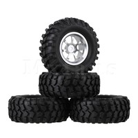Mxfans 4 x RC 1:10 Rock Crawler Car Simulation Tire & Alloy 7 Spoke Wheel Rim