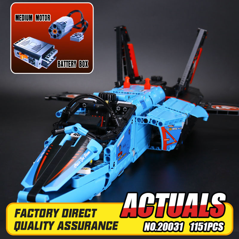 Lepin 20031 New Technic Series Mechanical Group Air Race Jet Building Blocks Bricks Small piece block Toy boys DIY gifts 42066 lepin 20031 technic the jet racing aircraft 42066 building blocks model toys for children compatible with lego gift set kids