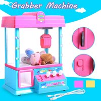 Coin Operated Games Grabber Doll Machine Carnival Style Vending Arcade Claw Candy Doll Prize Game Kid toy birthday Gift