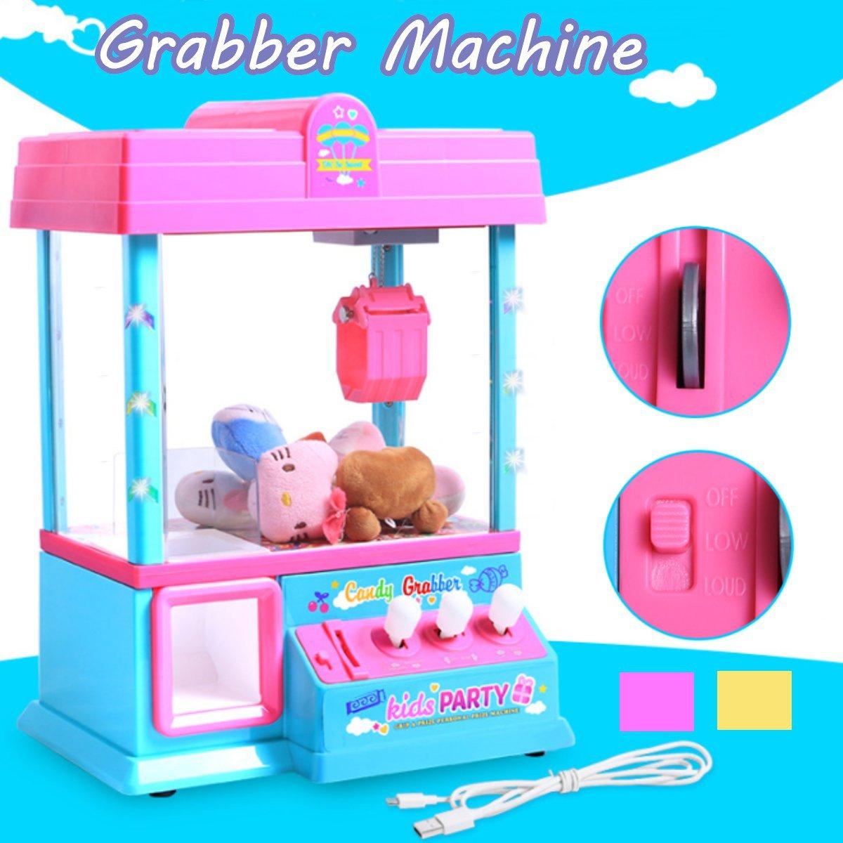 Monnayeur Jeux Grabber Poupée Machine Carnaval Style Distributeurs Arcade Griffe Bonbons Poupée Prix Jeu Enfant jouet Cadeau d'anniversaire