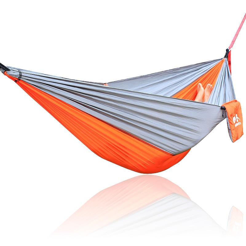Gray Orange Gray Hammock 260*140cm Outdoor furniture Loading 300KG yellow green yellow hammock 260 140cm outdoor furniture loading 300kg