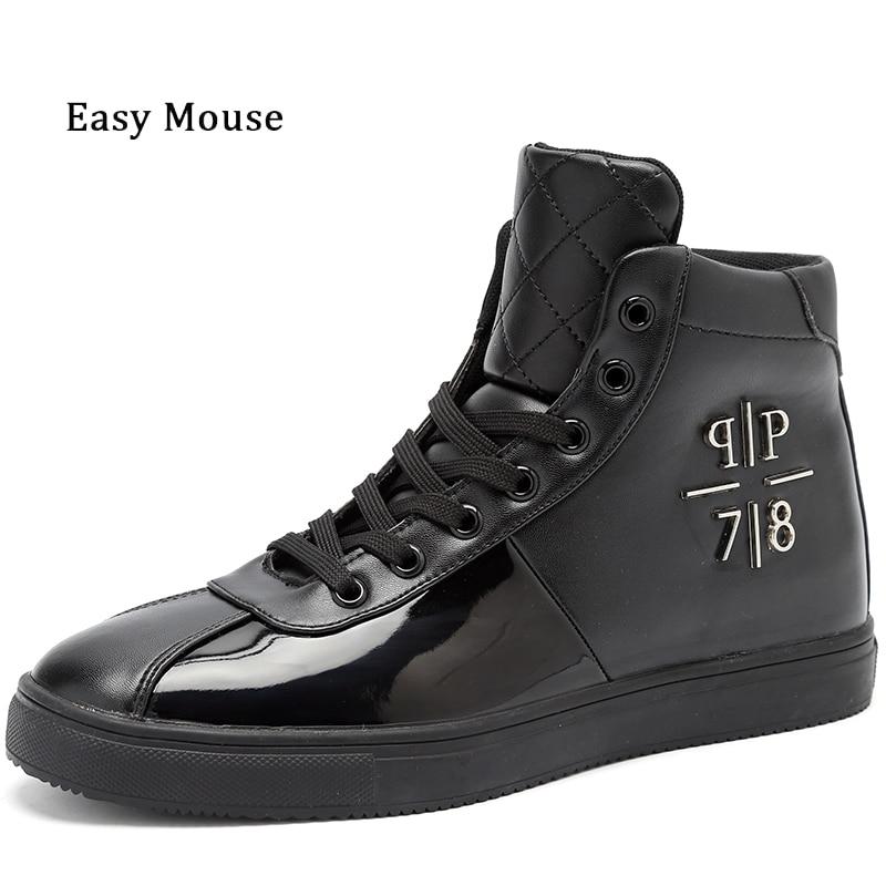 Prix pour 2017 Nouvelle Marque Designer Hommes Chaussures de Skate de Style Britannique En Cuir Chelsea Chaussures Bullock Semelle En Caoutchouc Chelsea Bateau Rapide