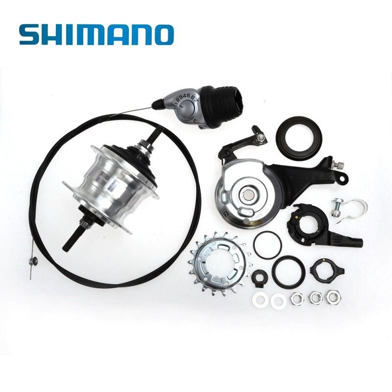 SHIMANO Nexus внутренне велосипед мотор-Передняя подшипника Алюминий между 7-Скорость велосипед переключения ролик дисковые тормоза 36 отверстия...