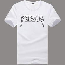 fashion tshirt men brand 2016 summer YEEZUS cotton t-shirt skateboard magazine hip hop tops tee shirts YEEZUS