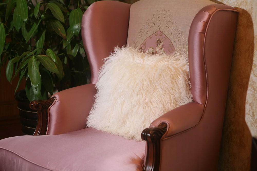 sheep skin back cushion pillow5