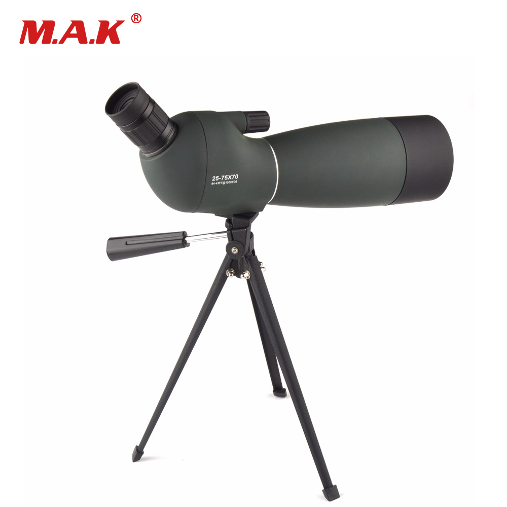 купить 25-75X70 HD Birdwatching Astronomical Telescope Porro BAK4 Prism Target Spotting Scope Waterproof with Free Tripod for Watching по цене 5078.73 рублей