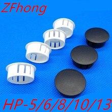 Unids/lote de enchufes de botón de 5mm, 6mm, 8mm, 10mm, 13mm y 16mm, tapones de nailon, tapones de orificio/Tapones de Plástico, tapa final, 500