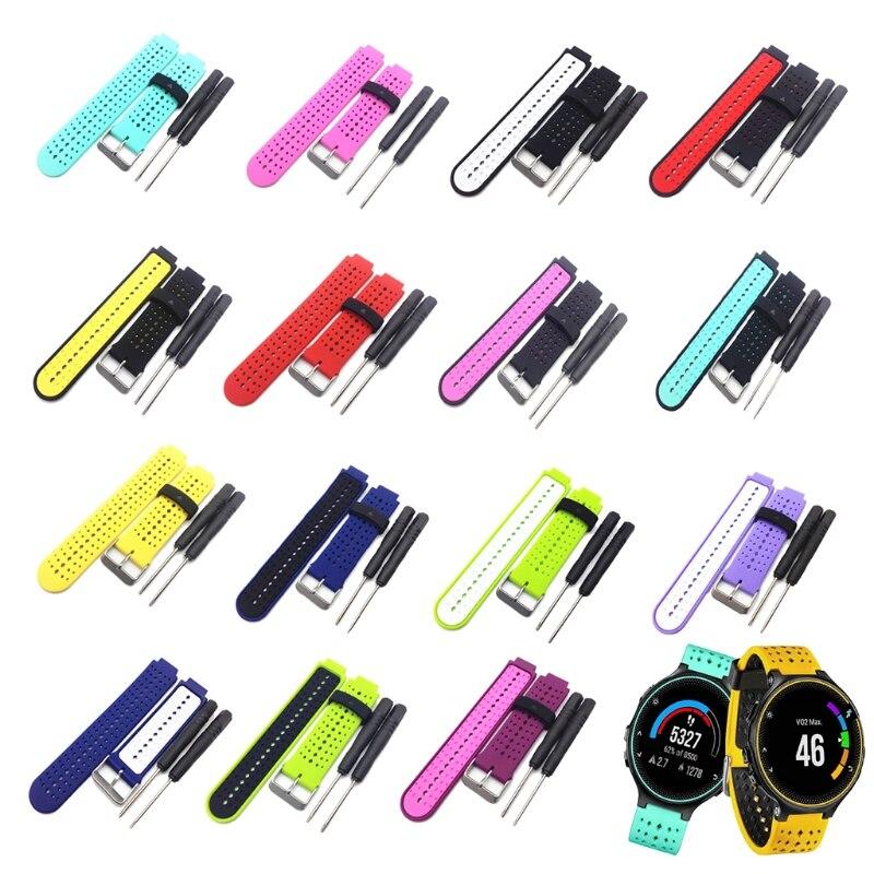 Silicone Watch Strap Band For Garmin Forerunner 220 230 235 620 630 Smart Watch