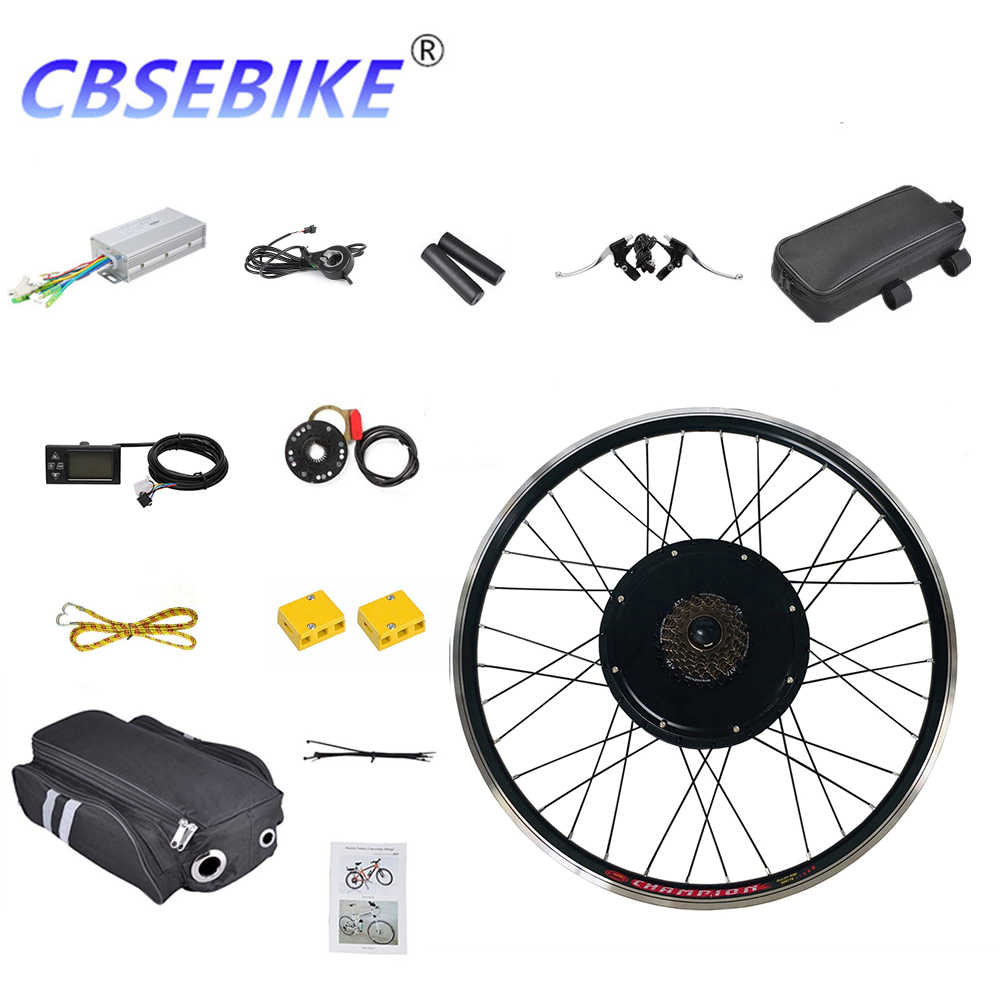 CBSEBIKE Electric Bike Conversion Kit 28inch 36v 48v 250w 500w 1000w for Rear Bicycle Wheel Motor HA05-28