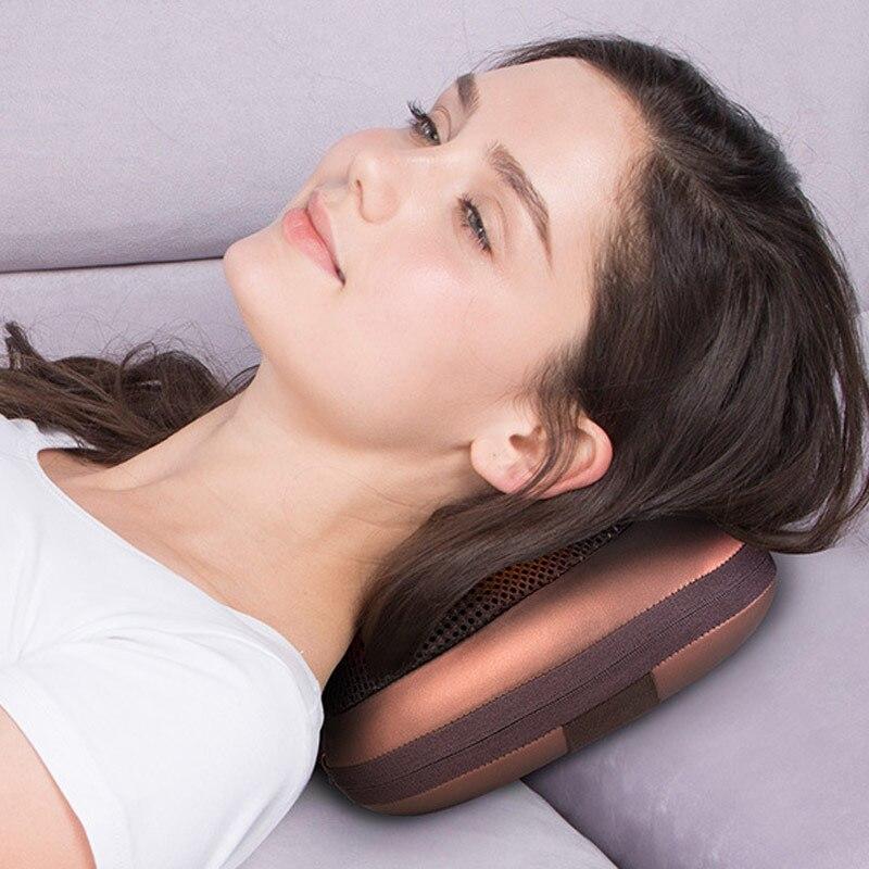 Multifunktions Hause Auto Elektrische Körper Massager Kissen Infrarot Akupressur Shiatsu Hals Schmerzen Relief Massage Maschine Werkzeug Alle-schiff