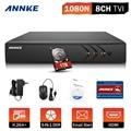 H.264 8ch 1080 p lite 1080n hd tvi annke + dvr para cctv sistema de câmera de segurança com 1 tb hdd