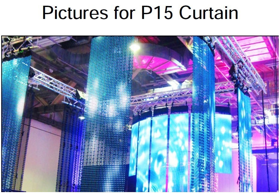 Indoor P15 flexible curtain