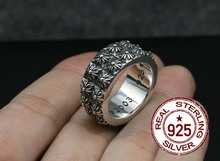 2017 Promotion Anillos Rings High-end Accessories 925 Pure Ring The Rivets Fashion Sterling Ornaments-fake One Punishment Ten