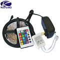 Promotion 3528 LED Strip Flexible Light 5M 300 Led SMD+24 key IR Remote Controller + 12V 2A Power Adapter Free Shipping