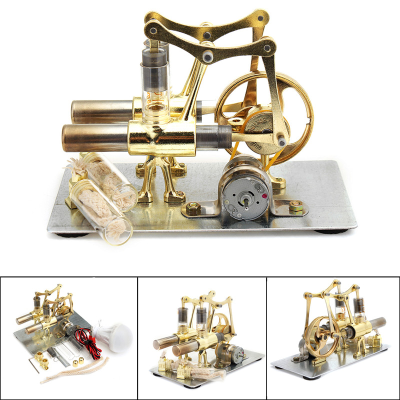 Balance Stirling Engine Miniature Model Steam Power Technology Scientific Power Generation Experimental Toy