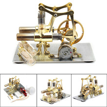 Balance Stirling engine miniature model steam power technology scientific power generation experimental toy stirling engine model victory star solid wood flooring scientific experiment toy gift