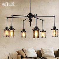 A1 Industrial designer oft retro creative lighting the A1 village dining room pendant light small iron staircase Iron Light