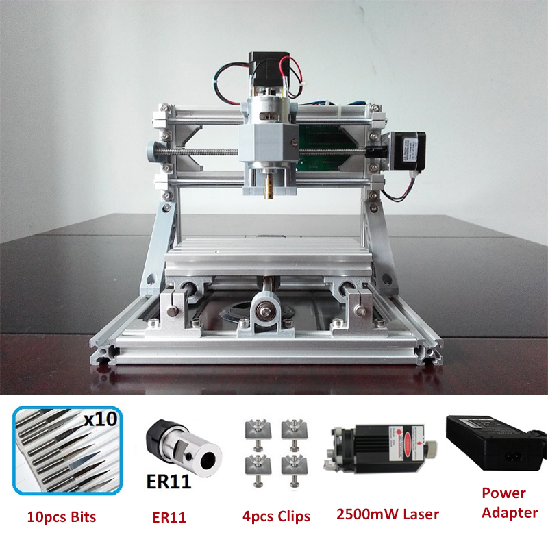CNC1610 Router Laser Engraving Machine Laser Engraver ER11 GRBL Hobby Machine 110V 220V For Wood PCB PVC Mini CNC Router Table