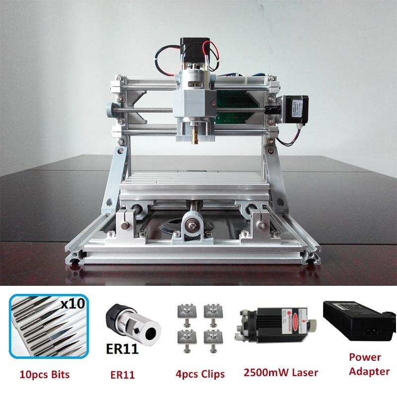CNC1610 Router Laser Engraving Machine Laser engraver ER11 GRBL Hobby Machine 110V 220V for Wood PCB