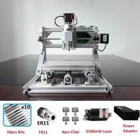 CNC1610 Router Laser Engraving Machine Laser engraver ER11 GRBL Hobby Machine 110V 220V for Wood PCB PVC Mini CNC Router Table