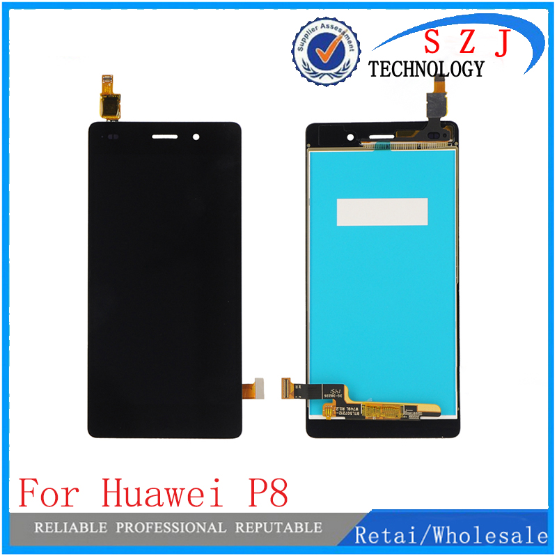 New 5.2 inch Replacement full screen for Huawei P8 LCD display with touch digitizer assembly p8 LCD with frame and without frame replacement full lcd display touch screen digitizer frame for htc one m9 grey