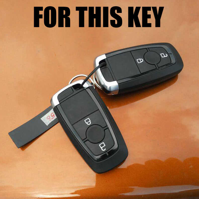 Étui en silicone pour clés pour Ford EcoSport 2018-porte-clés sans clé coque porte-clés porte-clés protection du support