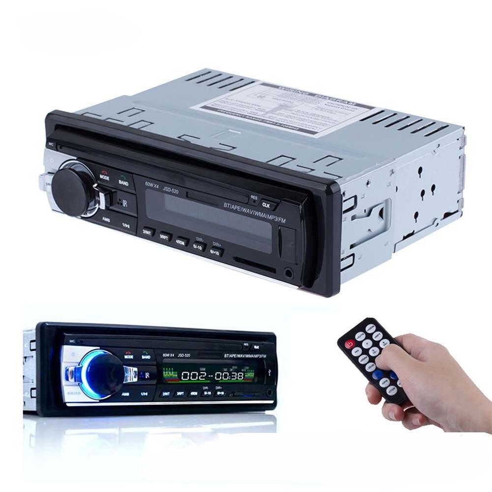 Registered Car Radio V2.0 Car Audio Stereo In-dash 1 Din FM Aux Input Receiver 12V Bluetooth SD USB MP3 MMC WMA Car Radio Player