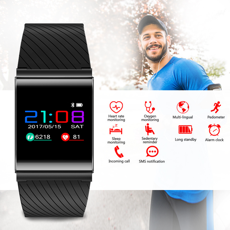 Smart Bracelet Color Smart Wristband Bluetooth Smart Watch Heart Rate Monitor Smart Band Pedometer for IOS Android Phone ls ls 233 6 5x15 4x98 d58 6 et32 mbf