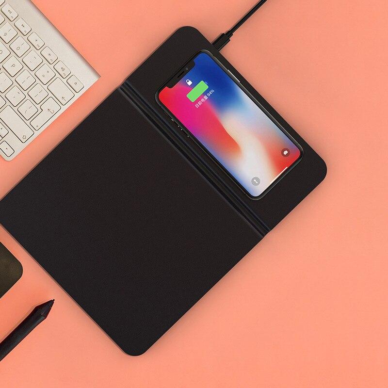 Jeu multifonction tapis de souris Ultra-mince avec chargeur sans fil 5/10 W pour téléphone EM88