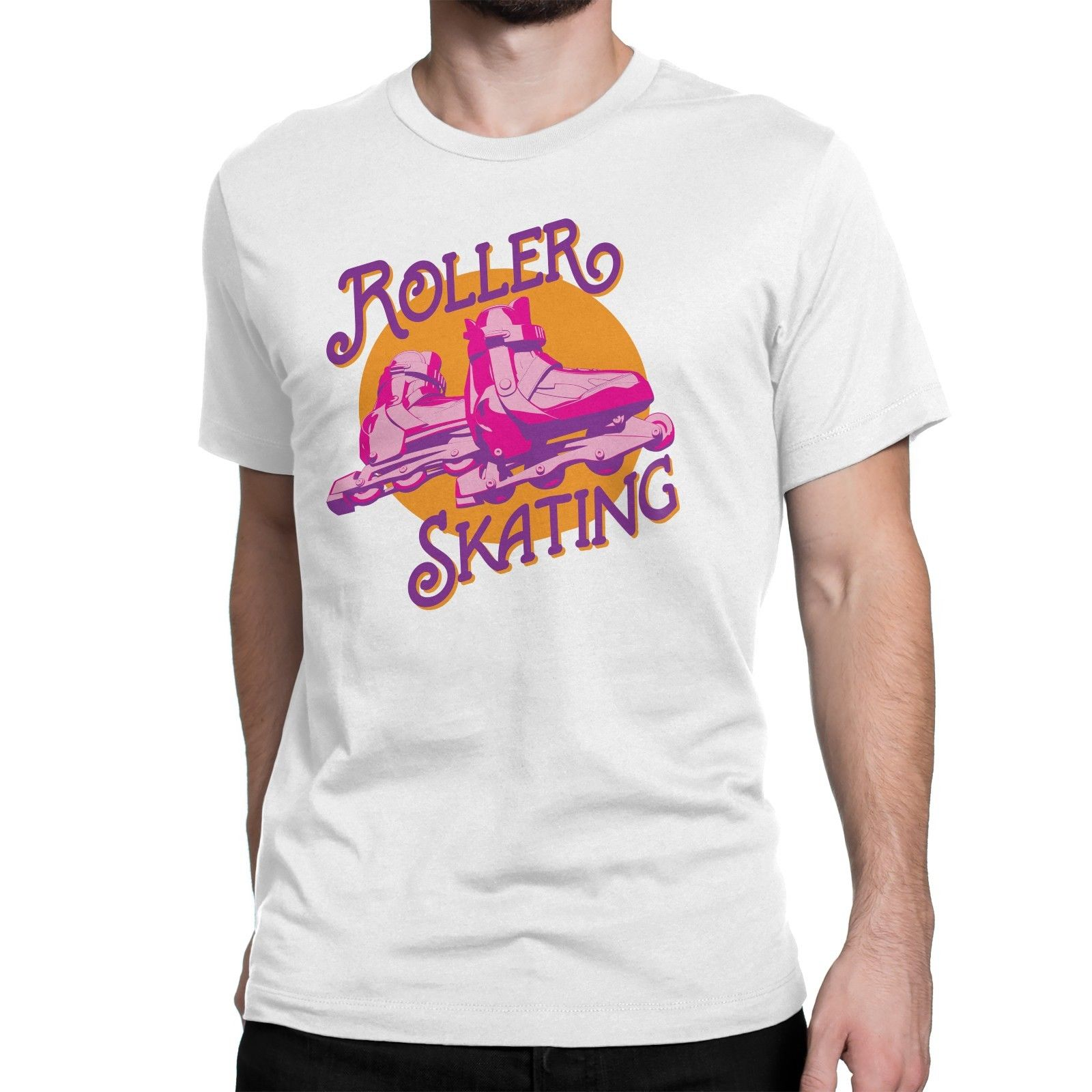 New Roller Derby 80s Skate Retro Sported Men T-Shirts Ideal Gift O-Neck Tops Tee Shirts