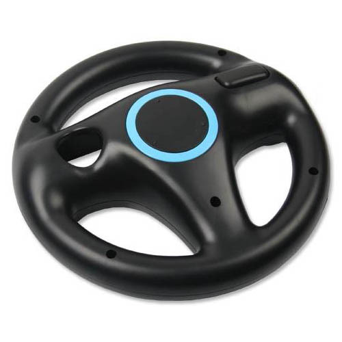 Black/ White Steering Kart Racing Wheel For Nintendo For Wii Remote Game Joystick