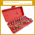 18pcs Oil Drain Plug Key Set Hexagon Socket Kit Auto oil change tool