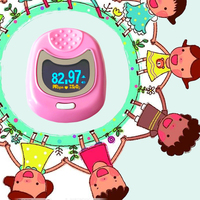 FDA CE Approved Pediatric Pulse oximeter for Child Kids SPO2 Blood Oxygen Monitor With Battery