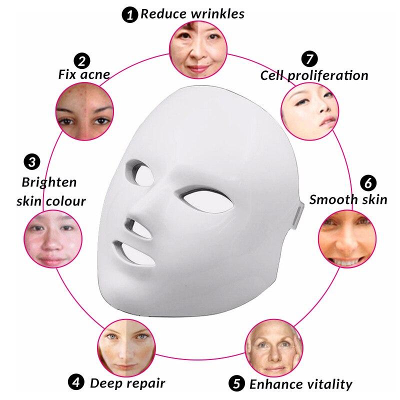 """Resultado de imagen de mascara facial led 7 colores antes y despues"""""""