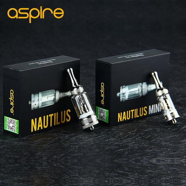 Original Aspire Nautilus/Mini Nautilus BVC Atomizador cigarro e Inferior Vertical Bobina Tanque Fluxo de Ar Ajustável Tanque De Vidro Pirex
