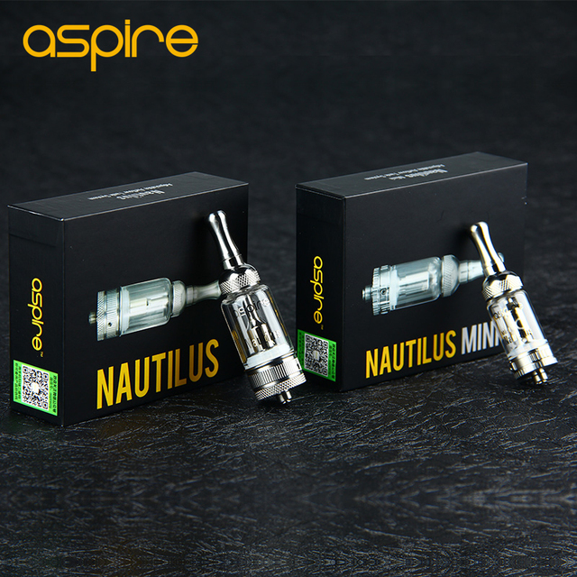 Original aspire nautilus/mini nautilus bvc atomizador cigarrillo electrónico bobina inferior vertical tanque de flujo de aire ajustable tanque de vidrio pyrex