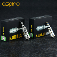 Original Aspire Nautilus/Nautilus Mini BVC Atomizer e cigarette Bottom Vertical Coil Tank Airflow Adjustable Pyrex Glass Tank