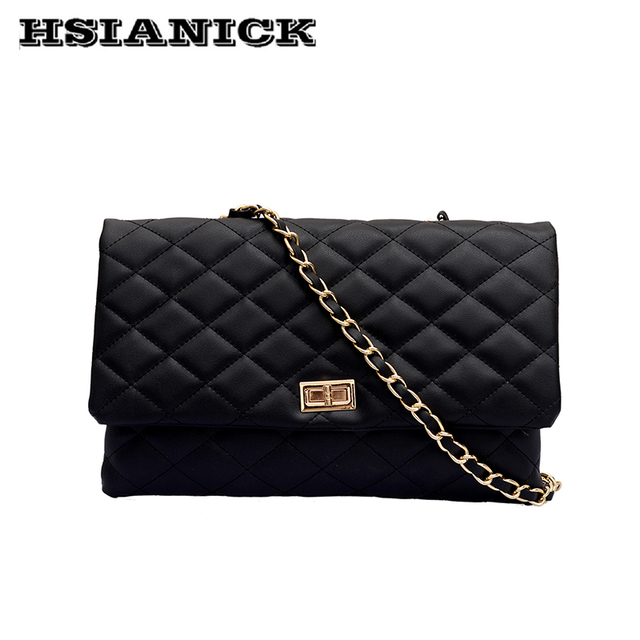 4daa8a078 Grande de moda bolsa mujer 2019 nuevo diseño blanco y negro de moda de  plata mensajero cadena de la bolsa de un solo hombro Bolso grande bolso