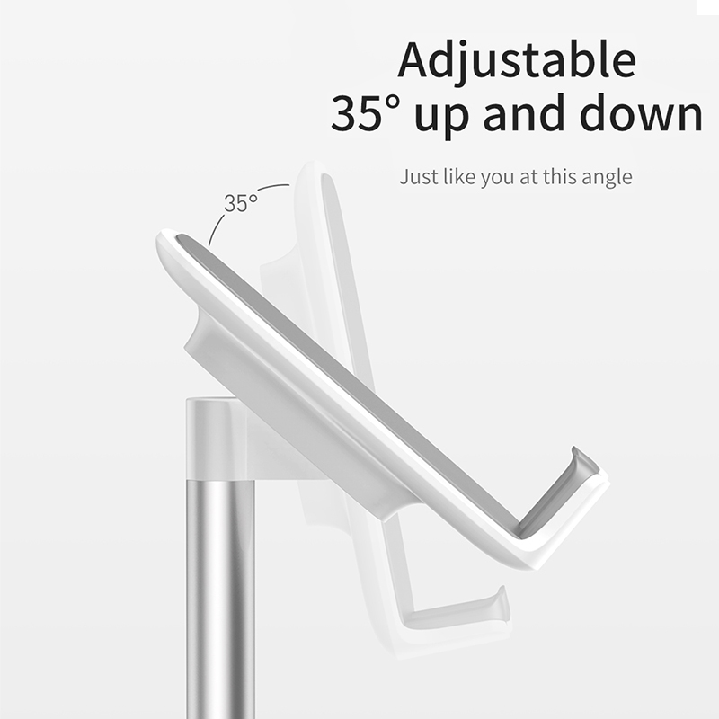 Baseus Mobile Phone Holder For iPhone 11 Pro XS Max iPad Non-slip Adjustable Metal Desktop Phone Stand For Samsung Xiaomi Tablet