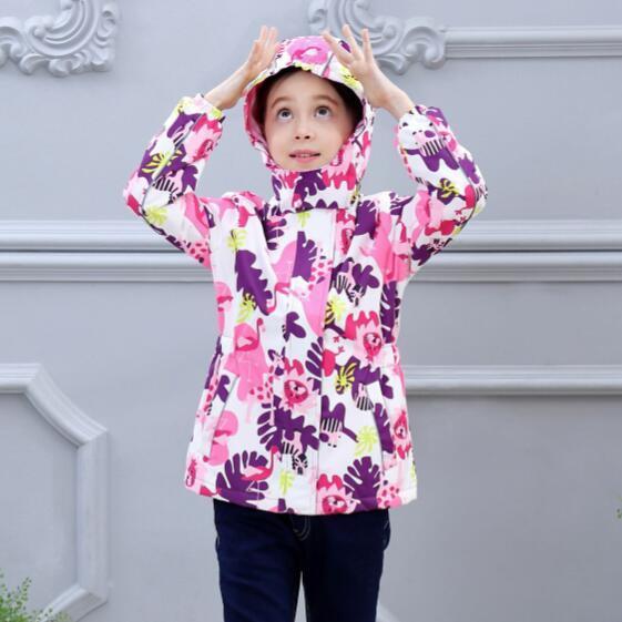 Su geçirmez endeksi 5000mm sıcak çocuk ceket bebek kız ceketler rüzgar geçirmez çocuk giyim çocuk giyim 3 14 yıl eski