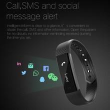 Bluetooth Akıllı Bileklikler fitnes aktivite takip cihazı sıkılaştırma bandı Pedometre kol bandı Su Geçirmez Uyku Monitör kol saati Sıcak