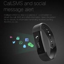 Pulsera inteligente Bluetooth rastreador de actividad Fitness banda podómetro brazalete impermeable Monitor de sueño reloj de pulsera caliente