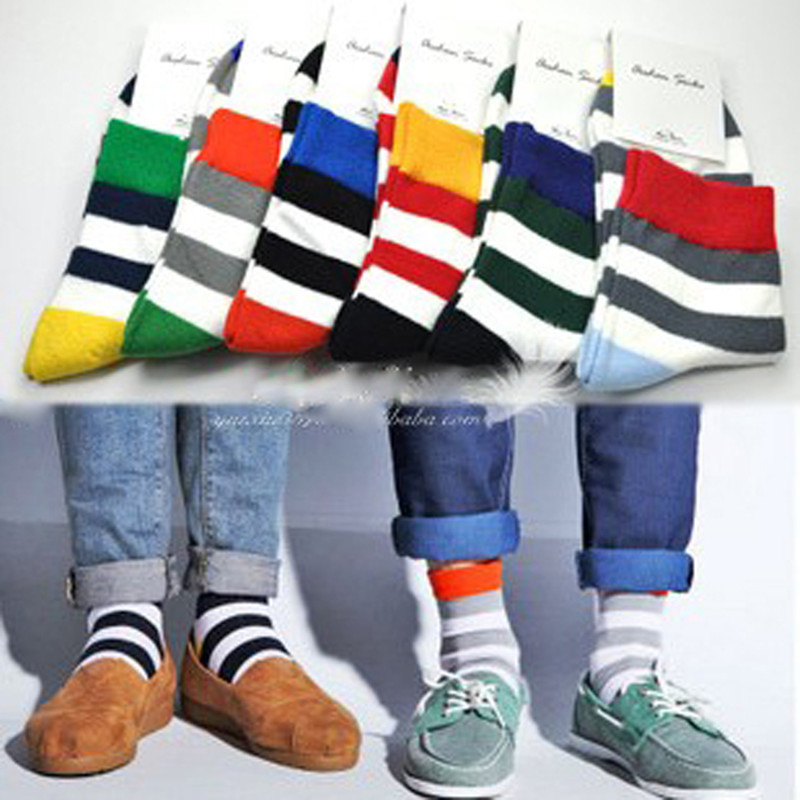 Precise 2017 Direct Selling Casual Cotton Chaussette Men Socks Wholesale 6pairs Lot Mens Designer Fashion Socks New Stripe Color Size M Soft And Antislippery Underwear & Sleepwears