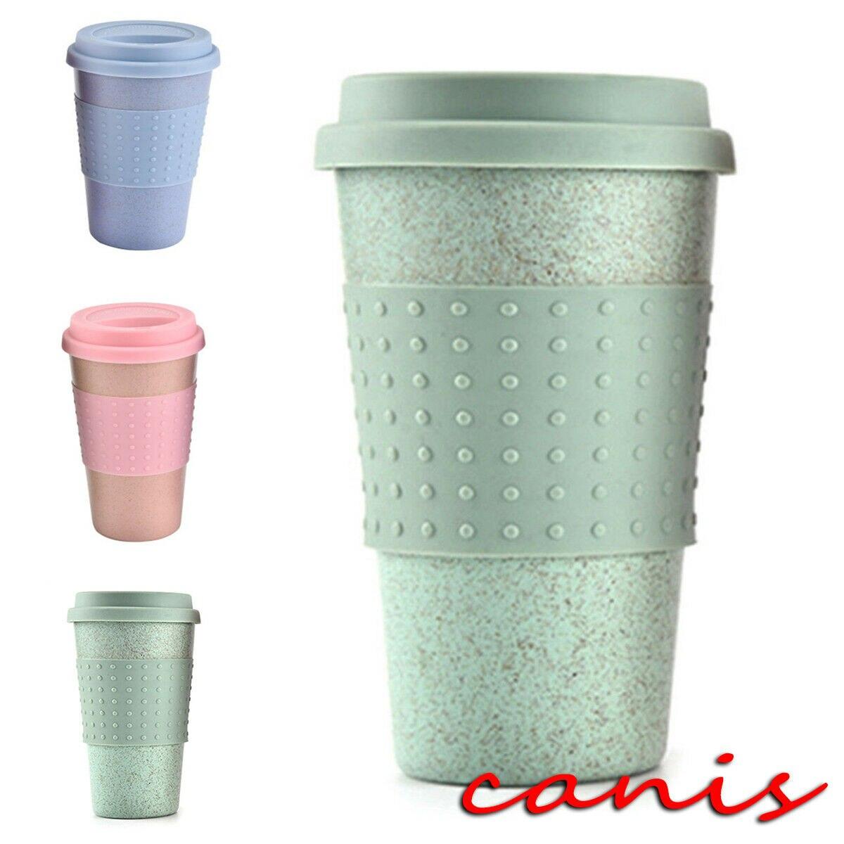 Горячая продажа многоразовые кофейные кружки из бамбукового волокна кофейные чашки 8 унций 12 унций 14 унций экологически чистые путешествия