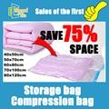 5pcs/lot 40*50/50*70/60*80/70*100/80*120 Home organizer Space clothing storage compressed vacuum bag