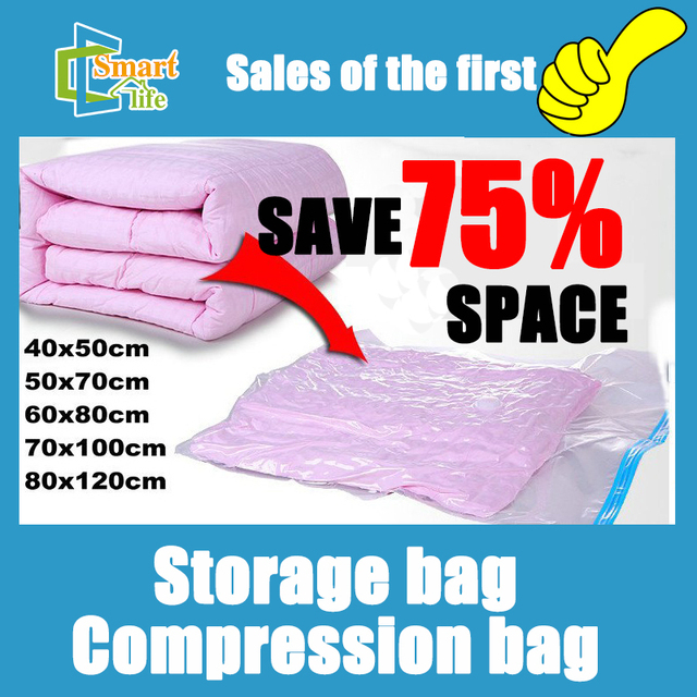 5pcs/lot 40*50/50*70/60*80/70*100/80*120 Home organizer Space clothing storage compressed vacuum bag