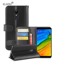 KLAIDO Genuine Cow Leather Case For Xiaomi Redmi 5 Case Protective Wallet Book Cover For Xiaomi