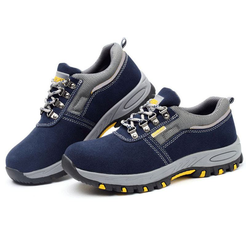 Safetoe Breathable Safety Shoes 2019 Steel Toe Casual Leather Work Shoes Men Safety Boots Work Boots Mens Steel Toe Shoes
